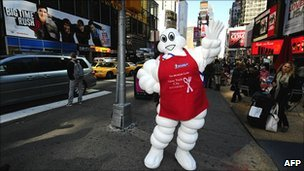 Launch of Michelin Guide in Times Square