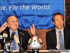 Sepp Blatter (left) and Chung Mong-joon