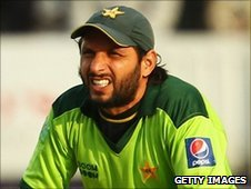 Pakistan's limited-overs captain Shahid Afridi