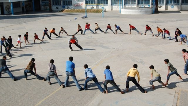 Nader al Masri training pupils