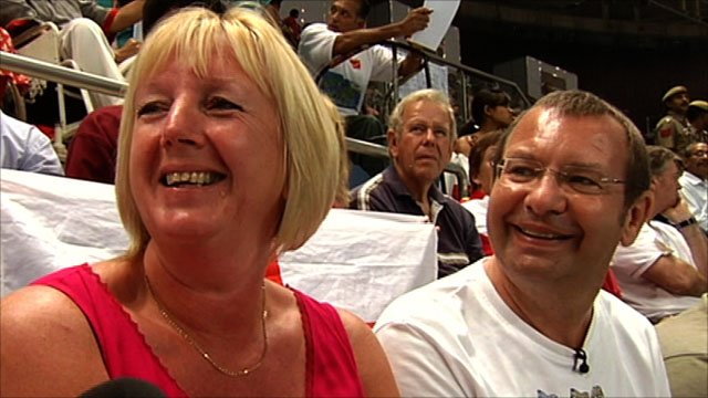 Rebecca Adlington's parents