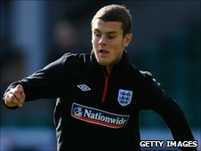 Jack Wilshere training with the England Under-21 squad at Carrow Road