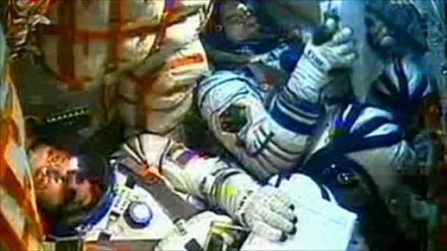 Astronauts on board