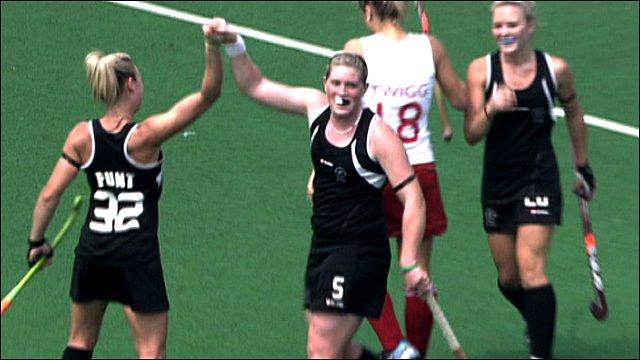 New Zealand players celebrate against England