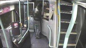 Man threatening bus driver