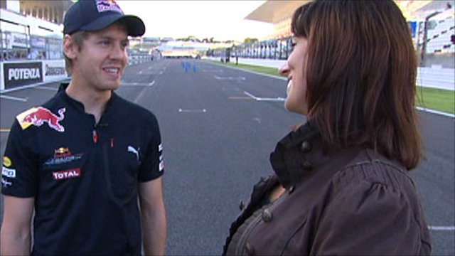 Sebastian Vettel with Lee McKenzie