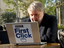 Roy Noble and the BBC First Click campaign