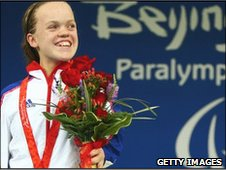 Ellie Simmonds won two gold medals at the Paralympics in Beijing