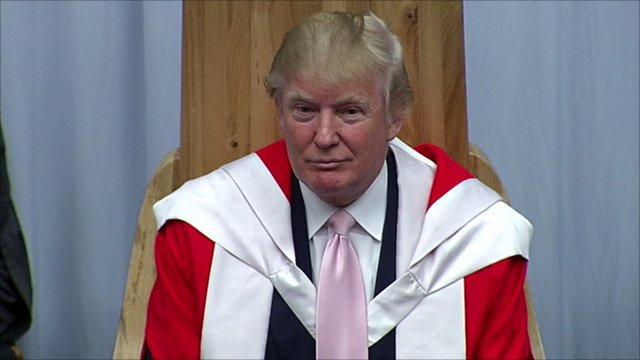 Donald Trump collected his honorary degree in Aberdeen