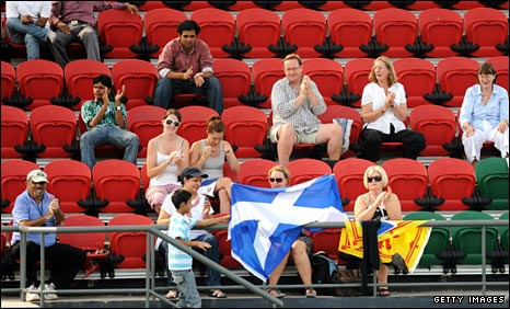 Scotland fans at the Commonwealth games