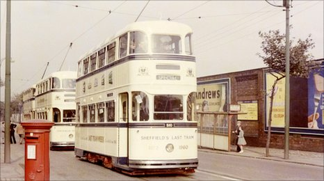 Sheffield's last tram on 8th October 1960
