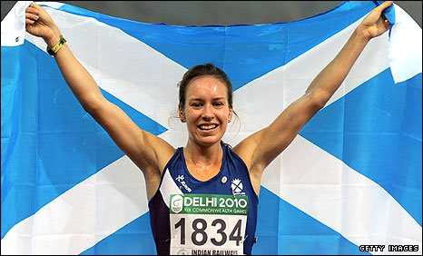 Stephanie Twell won gold in the women's 1500m