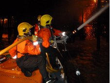 Firefighters from Hastings battle fire engulfing Hastings pier