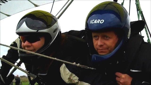 World Champion Judy Leden and BBC Sport's Mike Bushell