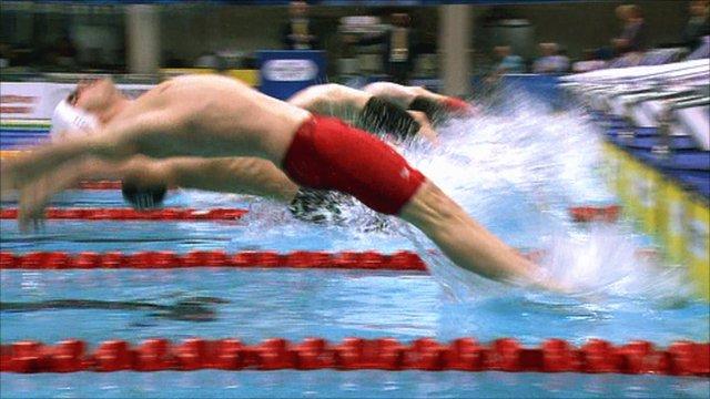 100m backstroke gets underway