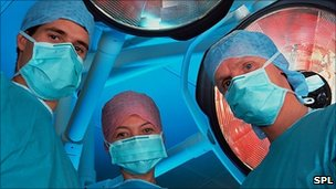 In an operating theatre