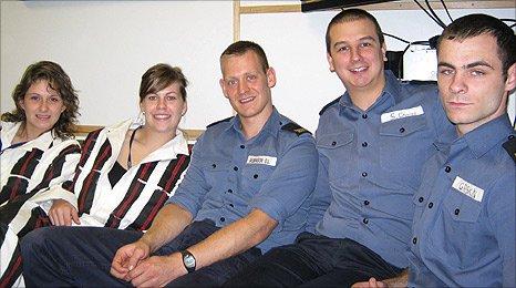 Crewmembers from HMS Dauntless