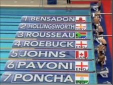 Tom Hollingsworth in the 200m individual medley in the Delhi 2010 Commonwealth Games.