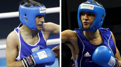 Pakistan's Haroon Khan v Wales' Andrew Selby in flyweight fight with a bronze at stake