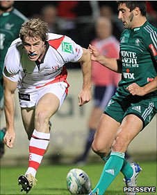 Andrew Trimble gets in to score Ulster's first try against Aironi