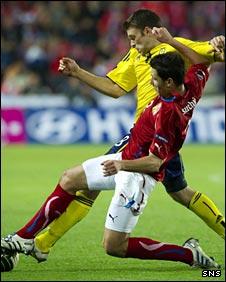 Marek Suchy tackled Jamie Mackie