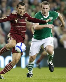 Alexander Kerzhakov and Richard Dunne
