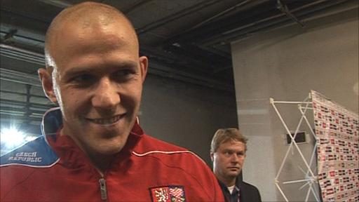 Czech Republic forward Roman Bednar