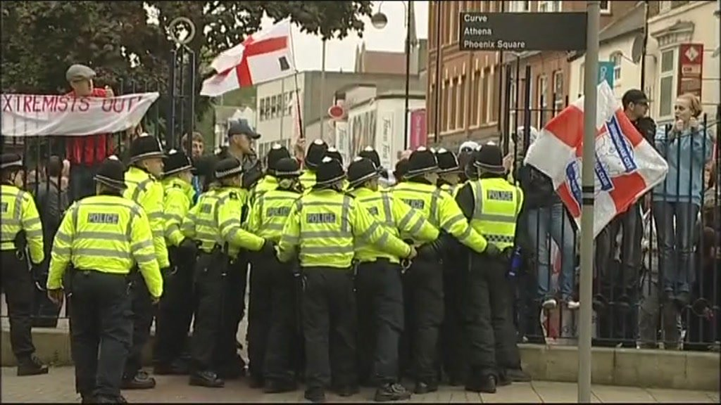 EDL protest in Leicester