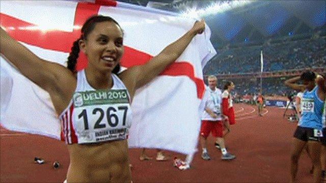 England's Louise Hazel