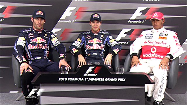 Japanese Grand Prix qualifying top three drivers
