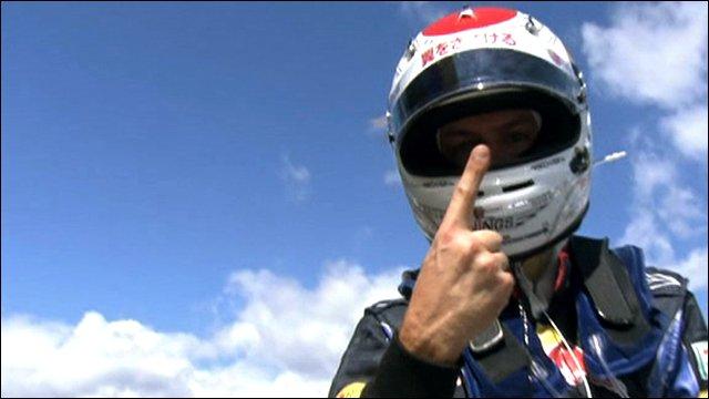 Sebastian Vettel celebrates pole at Suzuka