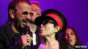 Ringo Starr and Yoko Ono