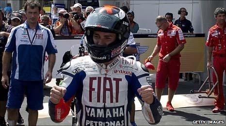 New MotoGP world champion Jorge Lorenzo