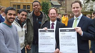 Nick Clegg and fees pledge