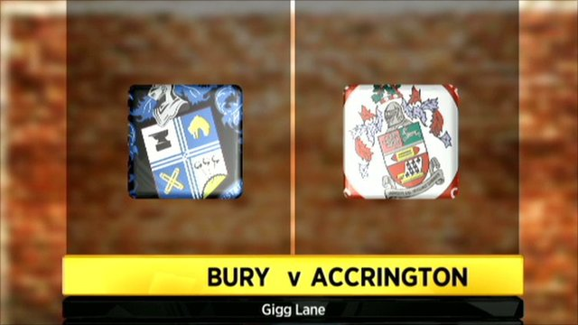 Bury v Accrington graphic