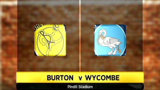 Burton v Wycombe graphic