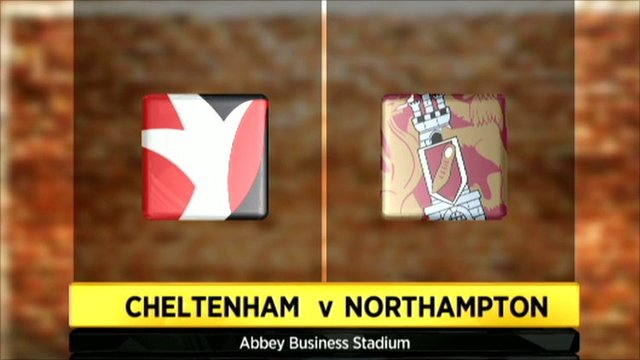 Cheltenham v Northampton graphic