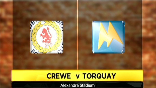 Crewe v Torquay graphic