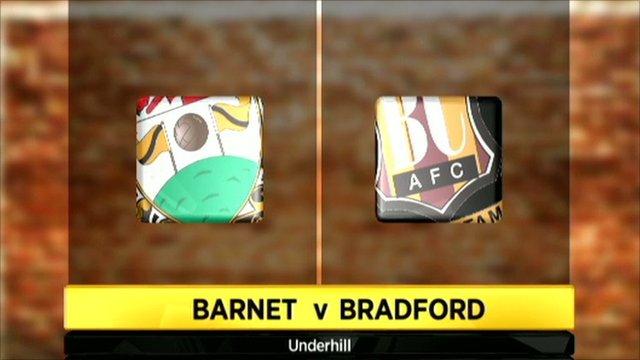 Barnet v Bradford graphic