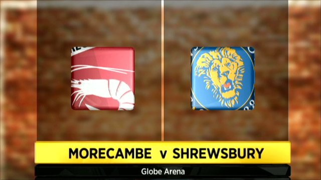 Morecambe v Shrewsbury graphic