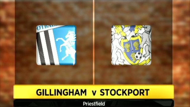 Gillingham v Stockport graphic