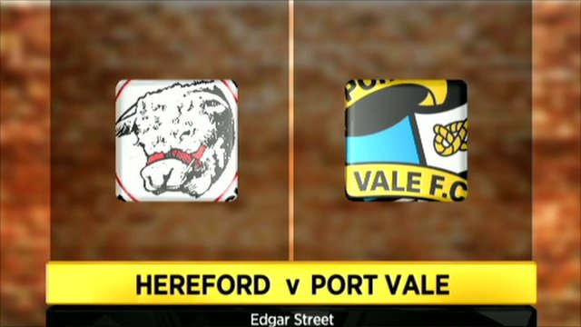 Hereford v Port Vale graphic