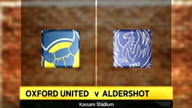 Oxford v Aldershot graphic