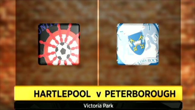 Hartlepool v Peterborough graphic