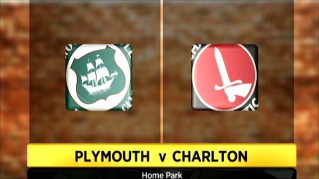 Plymouth v Charlton graphic