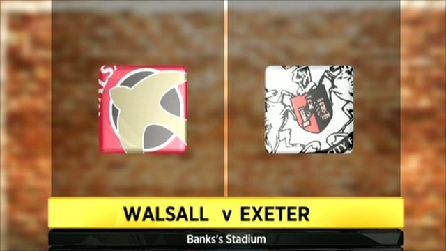 Walsall v Exeter graphic