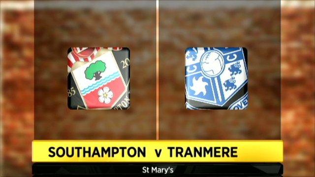 Southampton v Tranmere graphic