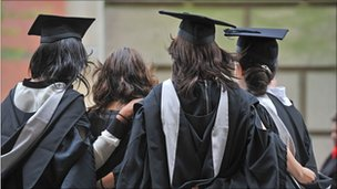 University graduates on graduation day