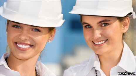 Women construction workers