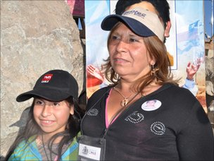 Antonia Godoy with daughter